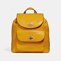 COACH F37621 Mini Billie Backpack CANARY 2/SILVER