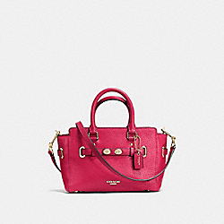 COACH F37635 Mini Blake Carryall In Bubble Leather IMITATION GOLD/BRIGHT PINK