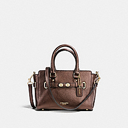 COACH F37635 Mini Blake Carryall In Bubble Leather IMITATION GOLD/BRONZE