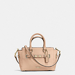 COACH F37635 Mini Blake Carryall In Bubble Leather IMITATION GOLD/BEECHWOOD