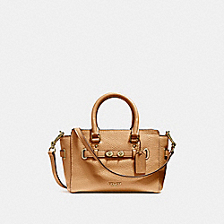 COACH F37635 Mini Blake Carryall LIGHT SADDLE/LIGHT GOLD