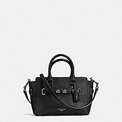 COACH F37635 Mini Blake Carryall In Bubble Leather MATTE BLACK/BLACK