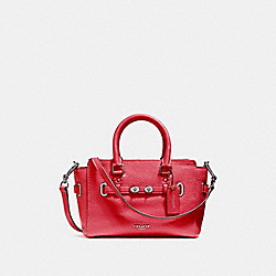 COACH F37635 Mini Blake Carryall SILVER/TRUE RED