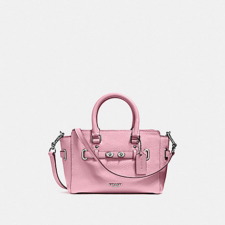 COACH f37635 MINI BLAKE CARRYALL SILVER/BLUSH 2