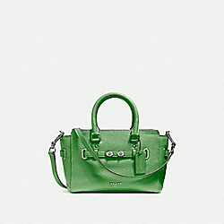 MINI BLAKE CARRYALL - f37635 - SILVER/KELLY GREEN