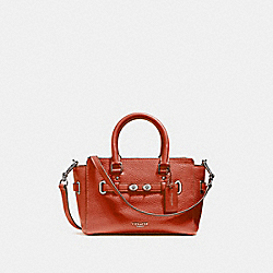 COACH F37635 Mini Blake Carryall ORANGE RED/SILVER