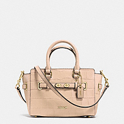 COACH F37665 Mini Blake Carryall In Croc Embossed Leather IMITATION GOLD/BEECHWOOD