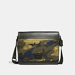 COACH F37667 - MESSENGER WITH HALFTONE CAMO PRINT GREY MULTI/BLACK ANTIQUE NICKEL