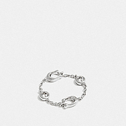 COACH F37668 Signature Chain Ring SILVER