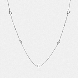 SIGNATURE CHAIN SHORT NECKLACE - F37669 - SILVER