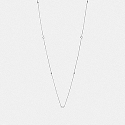 SIGNATURE CHAIN LONG NECKLACE - F37670 - SILVER