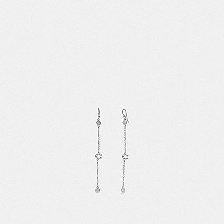 COACH SIGNATURE CHAIN DROP EARRINGS - SILVER - F37671