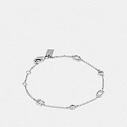 COACH F37672 Signature Chain Delicate Bracelet SILVER