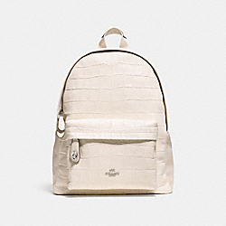 COACH F37712 Campus Backpack SILVER/CHALK