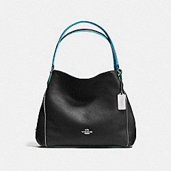 COACH F37721 - EDIE SHOULDER BAG 31 BLACK/TRICOLOR/SILVER