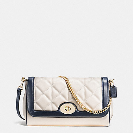COACH F37723 RUBY CROSSBODY IN QUILTED CALF LEATHER IMITATION-GOLD/CHALK/MIDNIGHT