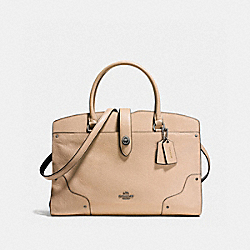 MERCER SATCHEL IN COLORBLOCK - F37728 - BEECHWOOD/BLACK/DARK GUNMETAL