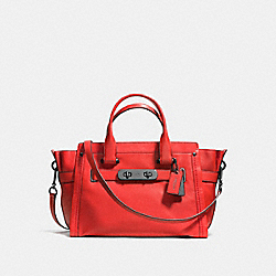 COACH F37732 Coach Soft Swagger In Soft Grain Leather DARK GUNMETAL/CARMINE