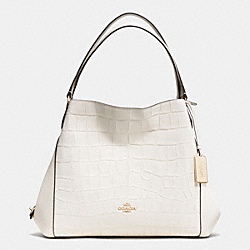 COACH EDIE SHOULDER BAG 31 IN CROC EMBOSSED LEATHER - LIGHT GOLD/CHALK - F37735
