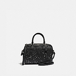COACH F37747 Micro Bennett Satchel With Star Glitter BLACK/SILVER