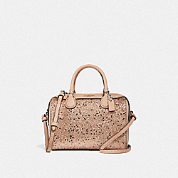 COACH F37747 Micro Bennett Satchel With Star Glitter GOLD/SILVER
