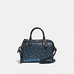 COACH F37747 Micro Bennett Satchel With Star Glitter MIDNIGHT/SILVER