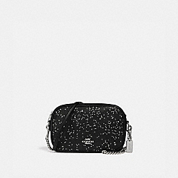 ISLA CHAIN CROSSBODY WITH STAR GLITTER - F37748 - BLACK/SILVER