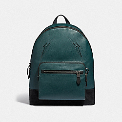 COACH F37752 West Backpack With Cut Outs FOREST/BLACK ANTIQUE NICKEL