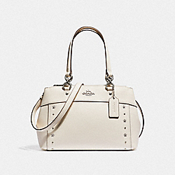 COACH F37754 Mini Brooke Carryall With Floral Rivets CHALK/SILVER