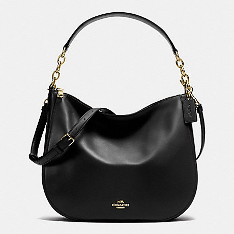 COACH F37755 CHELSEA HOBO 32 IN CALF LEATHER LIGHT-GOLD/BLACK