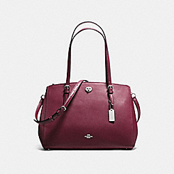 COACH F37776 - TURNLOCK CARRYALL SILVER/BURGUNDY