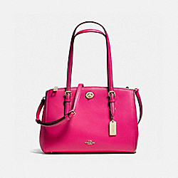 COACH F37782 Turnlock Carryall 29 CERISE/LIGHT GOLD
