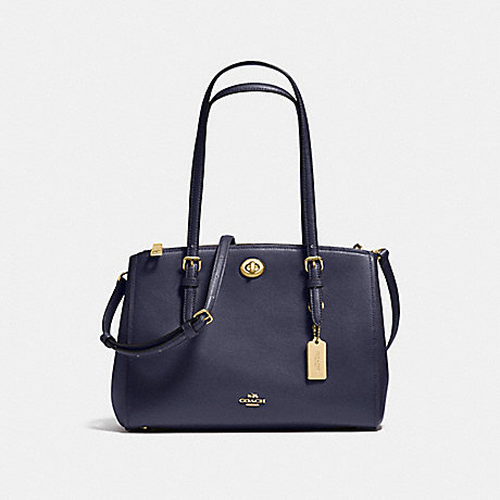 COACH f37782 TURNLOCK CARRYALL 29 NAVY/LIGHT GOLD