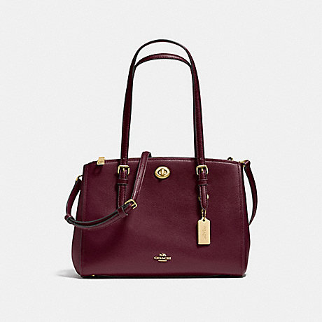 COACH f37782 TURNLOCK CARRYALL 29 OXBLOOD/LIGHT GOLD