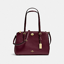 COACH F37782 - TURNLOCK CARRYALL 29 OXBLOOD/LIGHT GOLD