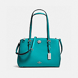 COACH F37782 - TURNLOCK CARRYALL 29 SILVER/TURQUOISE