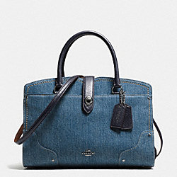 COACH F37786 - MERCER SATCHEL 30 IN COLORBLOCK DENIM DARK GUNMETAL/DENIM/NAVY