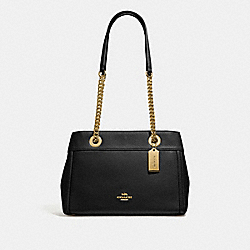 COACH F37796 - BROOKE CHAIN CARRYALL BLACK/LIGHT GOLD