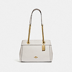 COACH F37796 - BROOKE CHAIN CARRYALL CHALK/LIGHT GOLD