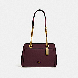 COACH F37796 - BROOKE CHAIN CARRYALL RASPBERRY/LIGHT GOLD