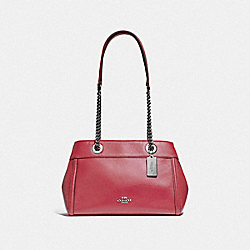 COACH F37796 - BROOKE CHAIN CARRYALL WASHED RED/SILVER