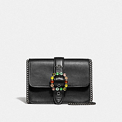 COACH F37798 - BOWERY CROSSBODY WITH JEWEL BUCKLE BLACK/BLACK ANTIQUE NICKEL