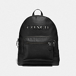 WEST BACKPACK WITH COACH CUT OUT - F37802 - BLACK MULTI/BLACK ANTIQUE NICKEL