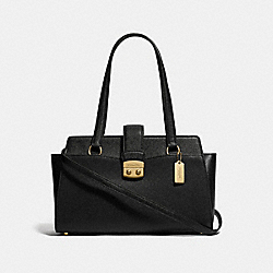 AVARY CARRYALL - F37832 - BLACK/IMITATION GOLD