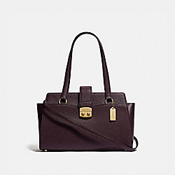 AVARY CARRYALL - F37832 - OXBLOOD 1/LIGHT GOLD