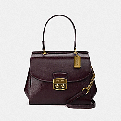 AVARY CROSSBODY - F37833 - OXBLOOD 1/LIGHT GOLD