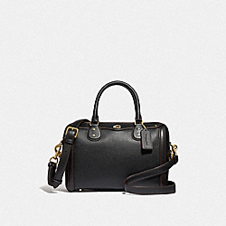 IVIE BENNETT SATCHEL - F37862 - BLACK/LIGHT GOLD