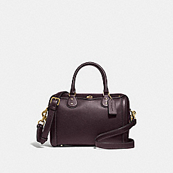 IVIE BENNETT SATCHEL - F37862 - OXBLOOD 1/LIGHT GOLD