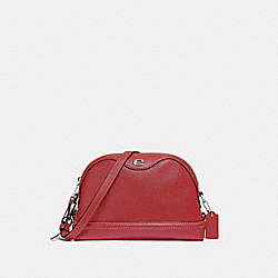 COACH F37863 Ivie Crossbody WASHED RED/SILVER