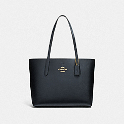 COACH F37871 Avenue Tote METALLIC DENIM/MIDNIGHT/LIGHT GOLD